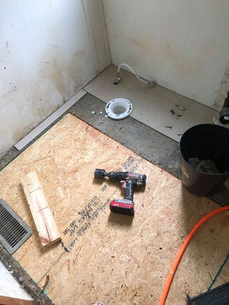 updated single wide-repairing subfloor