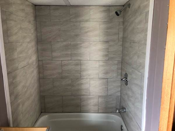 updated single wide-shower after