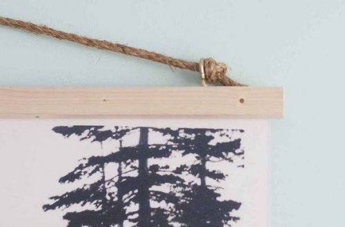 use furring strips and nuts to hang diy wall art