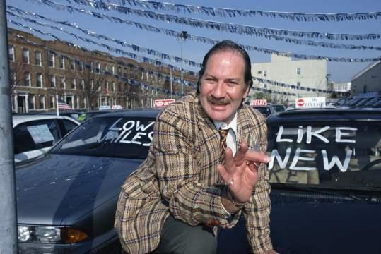 used car sales man