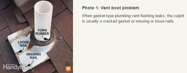 Fing leaks in mobile home roofing - vent boot problem on roof