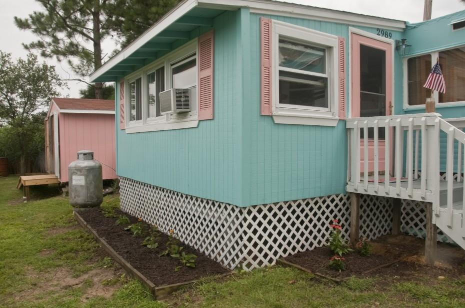 vintage mobile home makeover