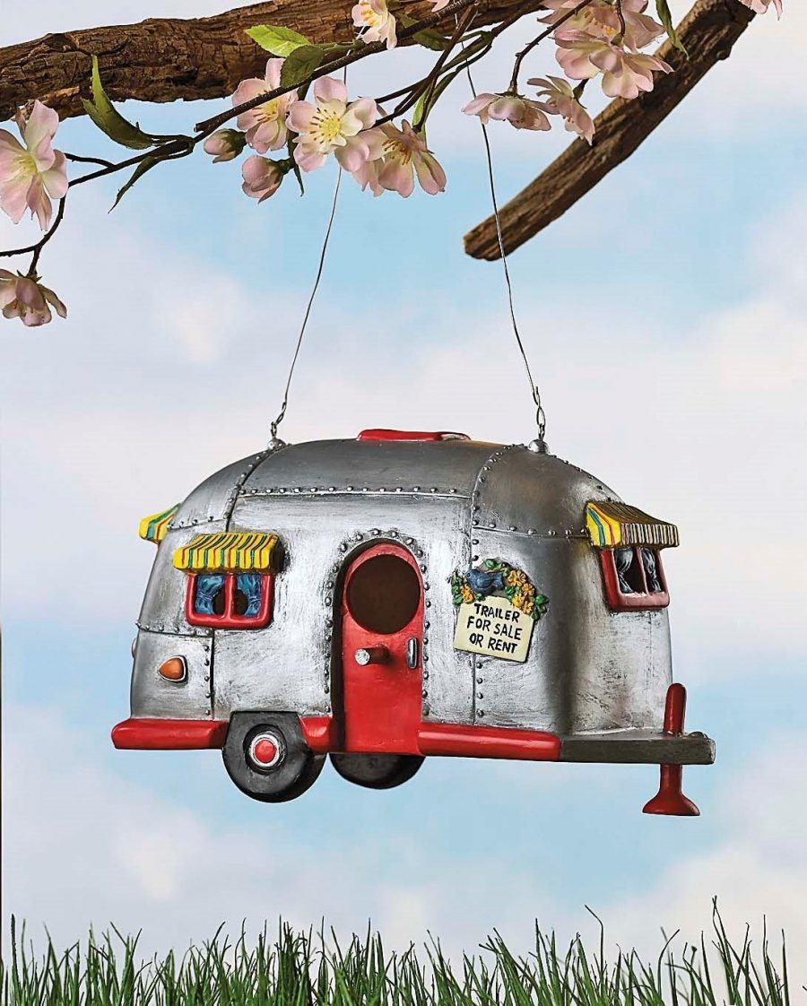 vintage camper birdhouse - vintage mobile home gifts