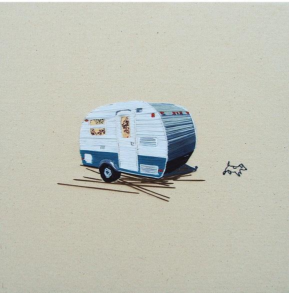 vintage camper embroidered art (1)