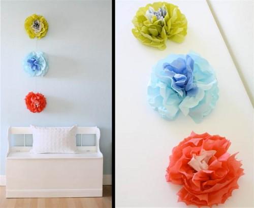 wall flowers - DIY fall decorating ideas
