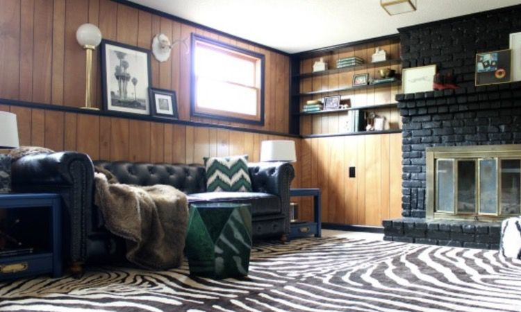 wood paneling with black trim - ideas for wood paneling in mobile homes