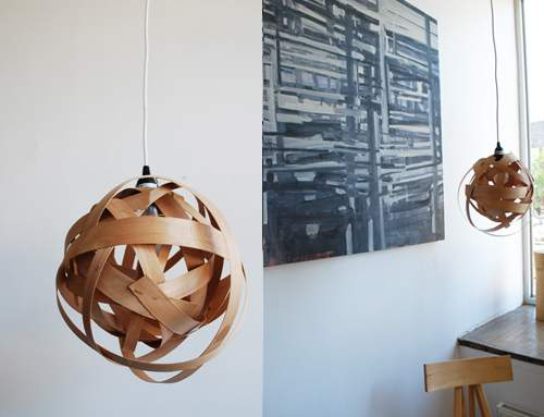woven lamp pendant - DIY lamps you can make
