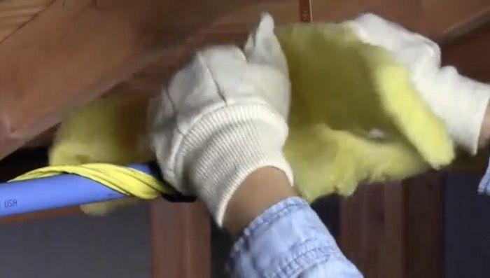 wrap insulation around heat tape